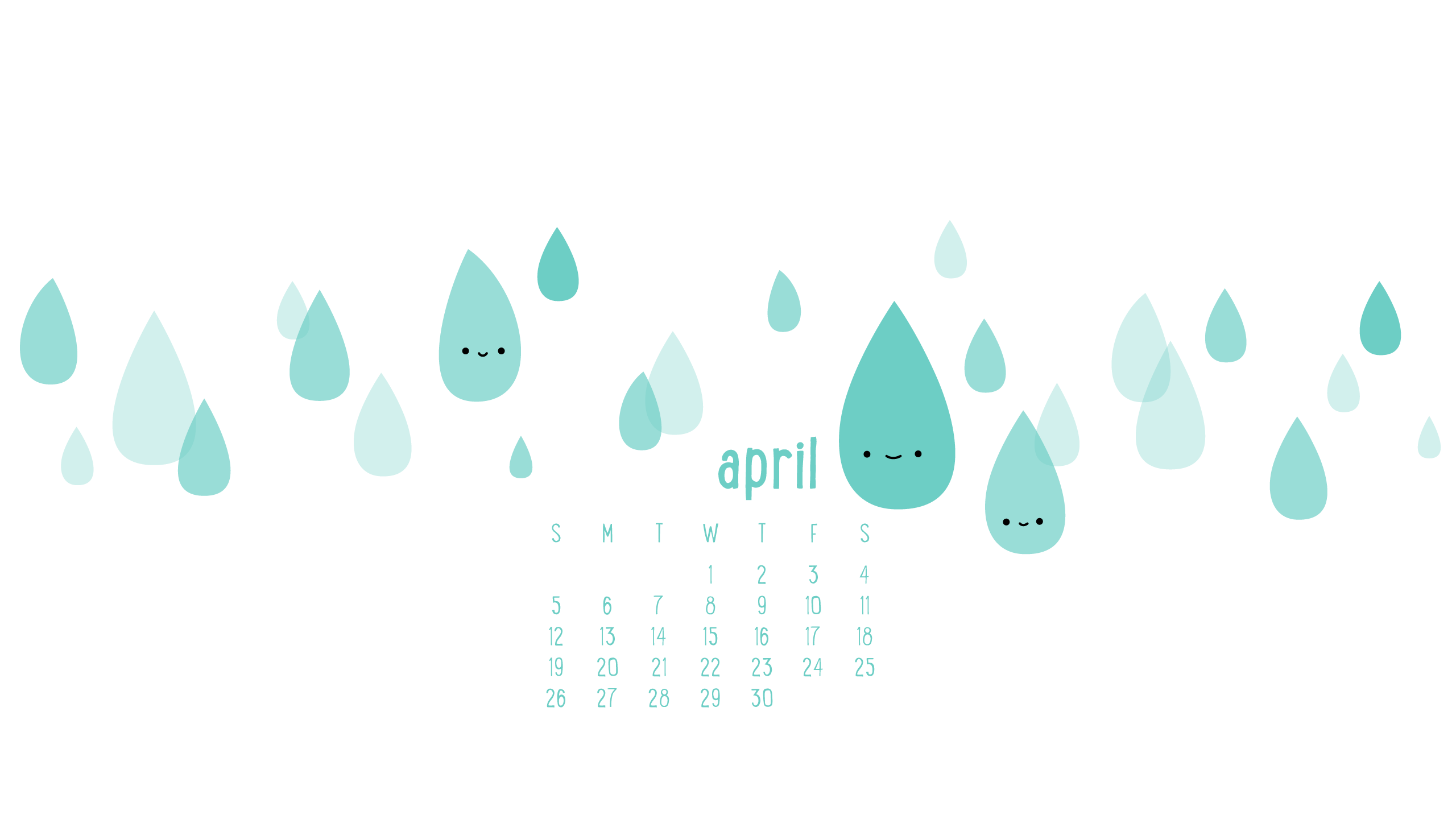 Wild Olive Calendar April S Raindrops Keep Falling On My Head