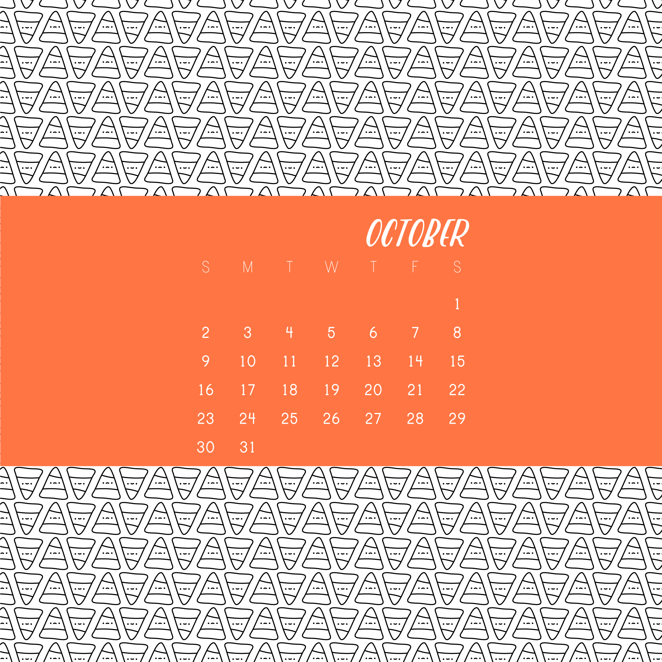 Calendar Old Cranky Candy Corn For A New October Wild