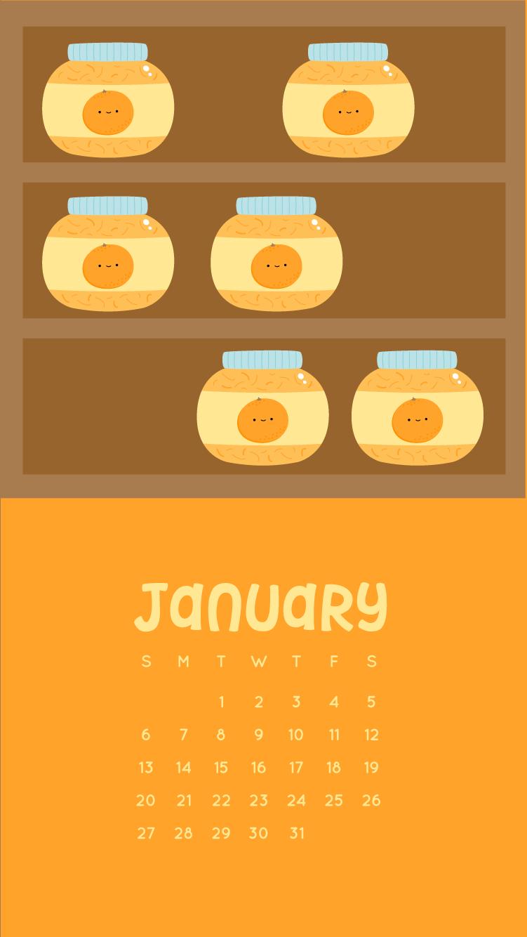 Wild Olive Calendar January Orange Marmalade Wallpapers