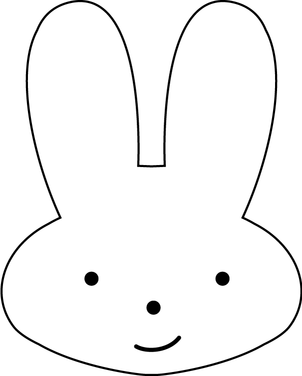 Versatile image regarding bunny face printable