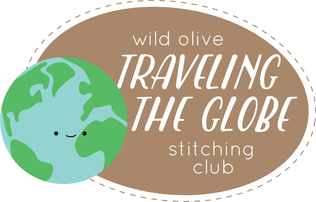 travel the globe with a new wild olive stitching club