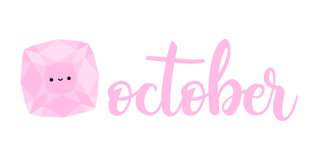 calendar // a soft tourmaline for october