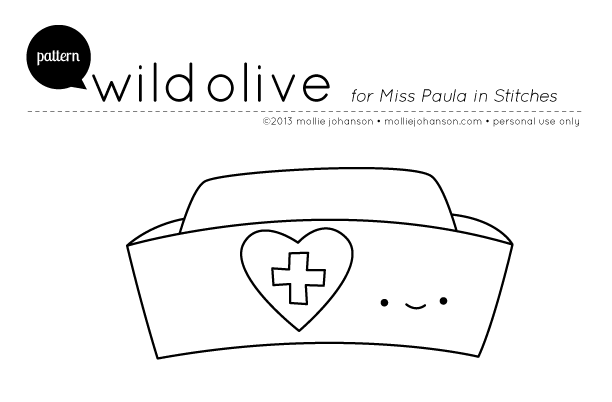 Wild Olive Pattern Nurse Hat And A Blessing Red Ranger Coloring Page